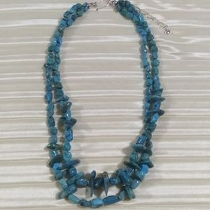Jay King DTR double strand turquoise necklace